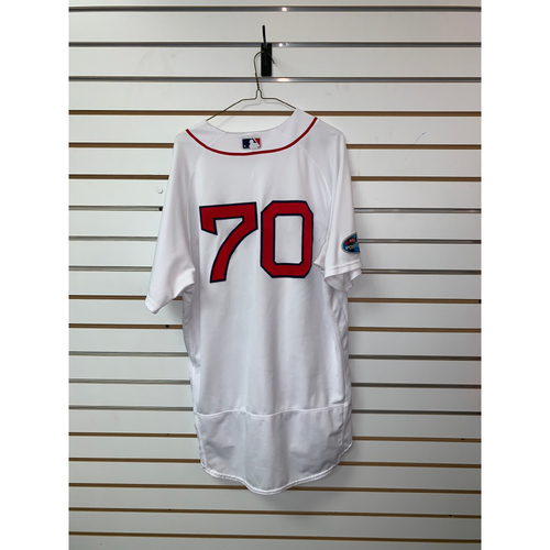 Photo of Ryan Brasier Game Used September 29, 2018 Home Jersey