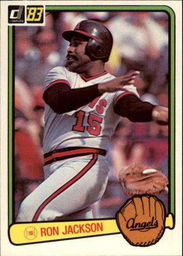 Photo of 1983 Donruss #639C Ron Jackson COR/Angels in glove,/green border/on photo