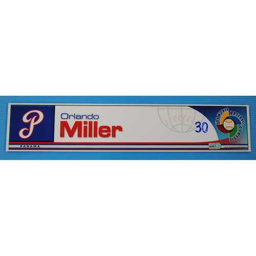 Photo of 2006 Inaugural World Baseball Classic: Orlando Miller Locker Tag - PAN