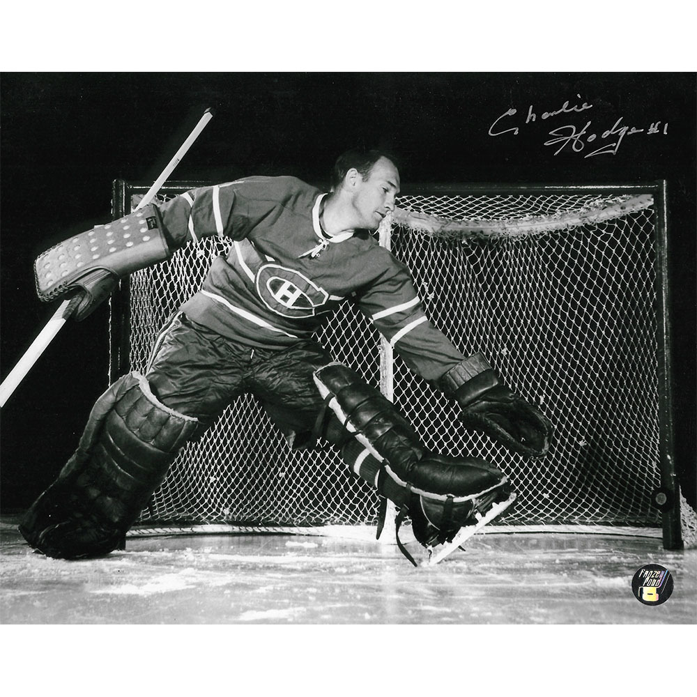 Charlie Hodge Autographed Montreal Canadiens 8X10 Photo