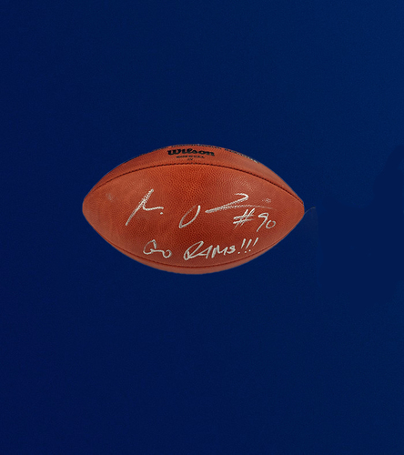 "Photo of Michael Brockers Signed Authentic ""The Duke"" Football"
