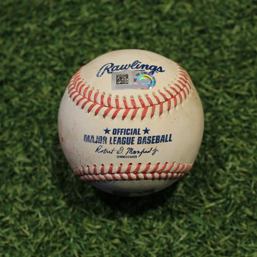 Photo of Game-Used Baseball: Josh Bell 483rd Career Hit (PIT @ KC 9/11/20)
