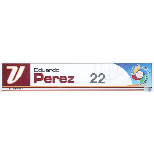 Photo of 2006 Inaugural World Baseball Classic: Eduardo Perez (VEN) Game-Used Locker Name Plate