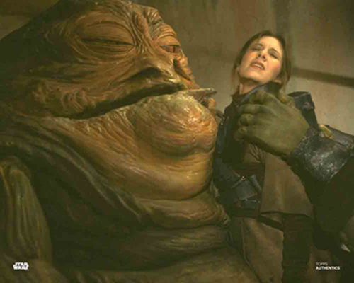 Jabba the Hutt and Princess Leia Organa