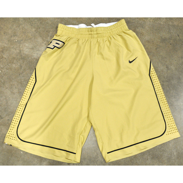 Photo of Gold Nike Men's Basketball Official Game Shorts // Size 38 +4 length