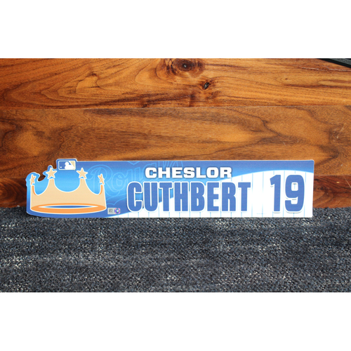 Game-Used Locker Name Plate: Cheslor Cuthbert
