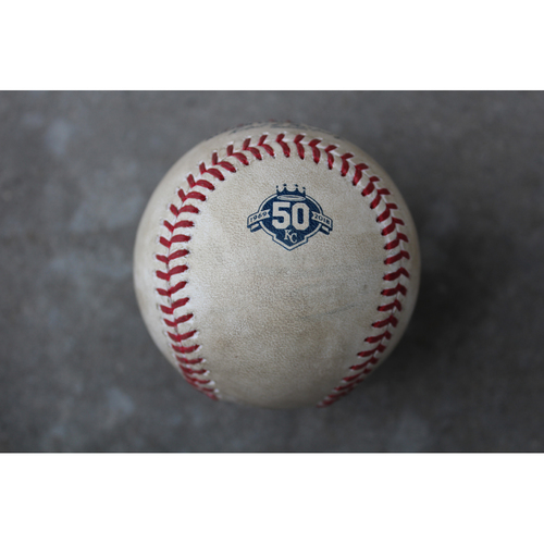 Photo of Game-Used Baseball: Mike Trout Foul (4/12/18 - LAA at KC)