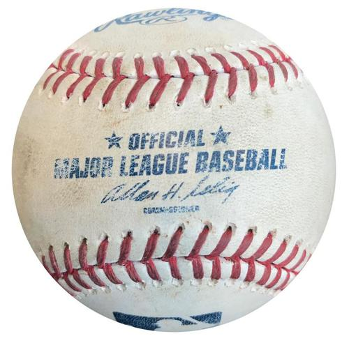Photo of Game-Used Baseball from Pirates vs. Cubs on 9/13/14 - Gaby Sanchez Single