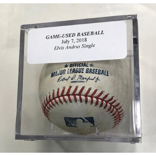 Photo of Game-Used Baseball: Elvis Andrus Single