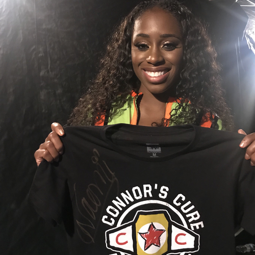 Photo of Naomi WORN & SIGNED Connor's Cure T-Shirt (Connor's Cure:SmackDown - 09/04/18)