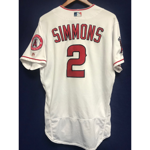 Photo of Andrelton Simmons Game Used Home Jersey