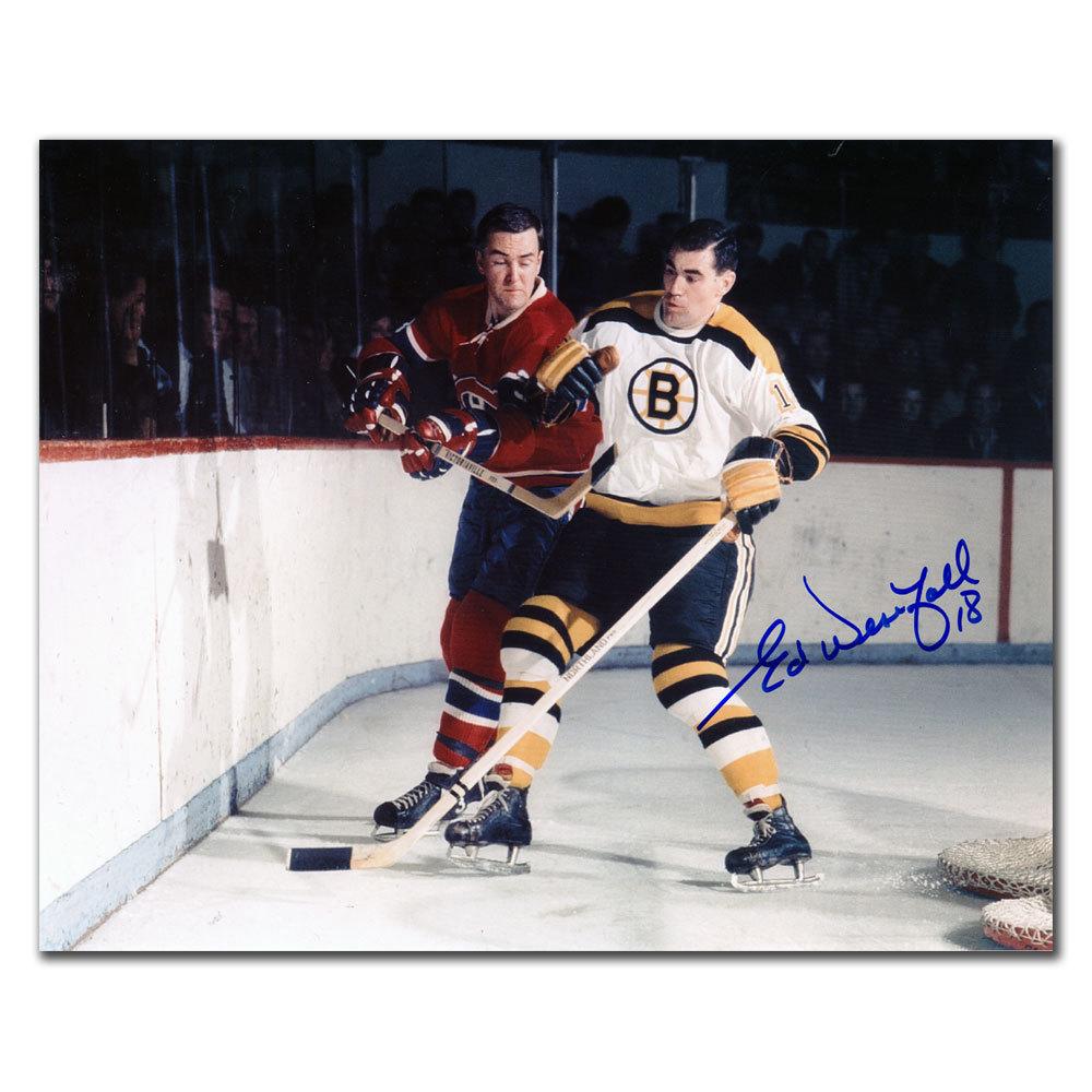 Ed Westfall Boston Bruins vs PRONOVOST Autographed 8x10