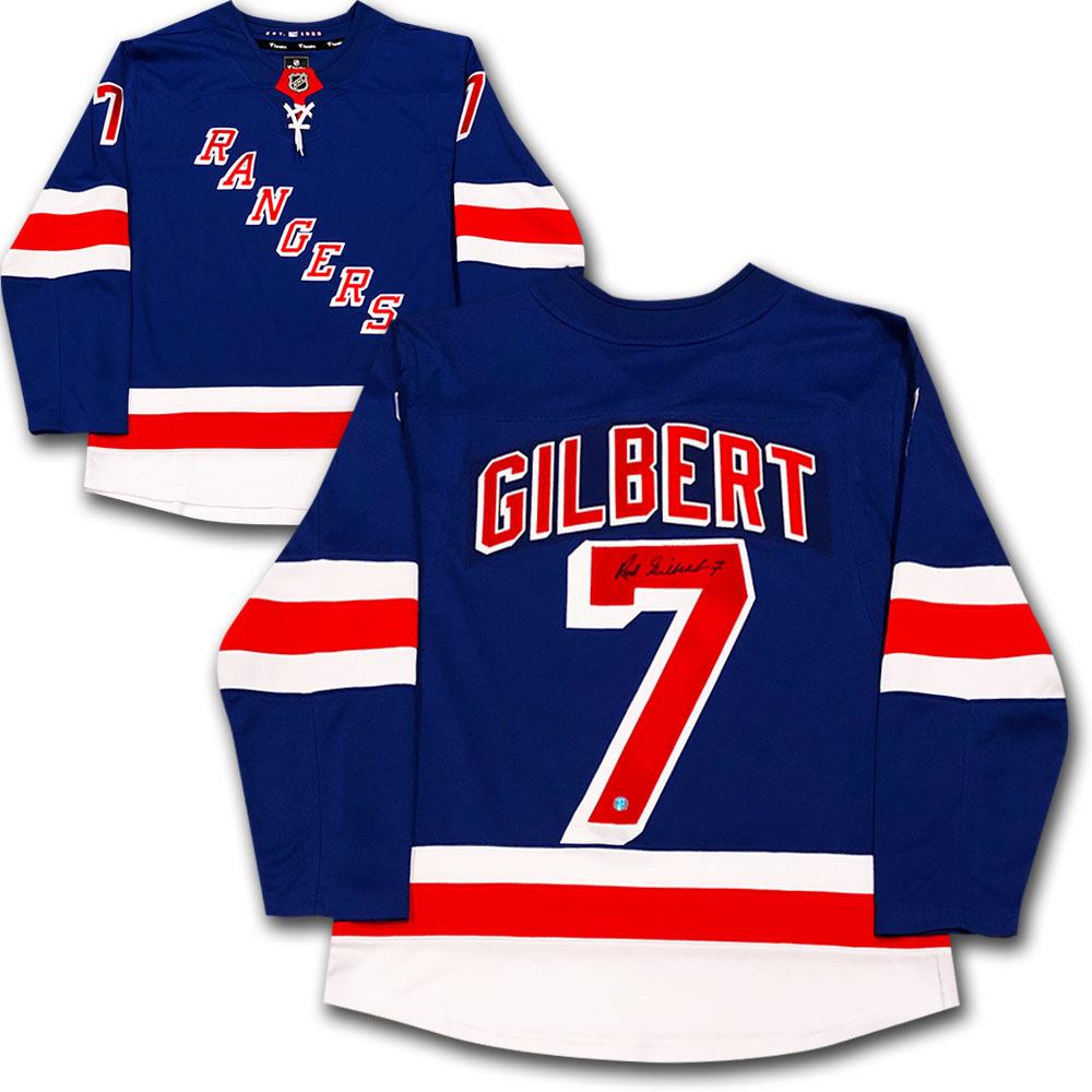 Rod Gilbert Autographed New York Rangers Jersey