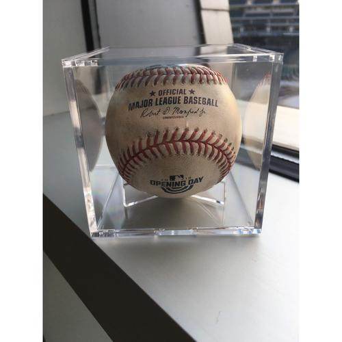 Photo of Opening Day 2018 Game-Used Baseball