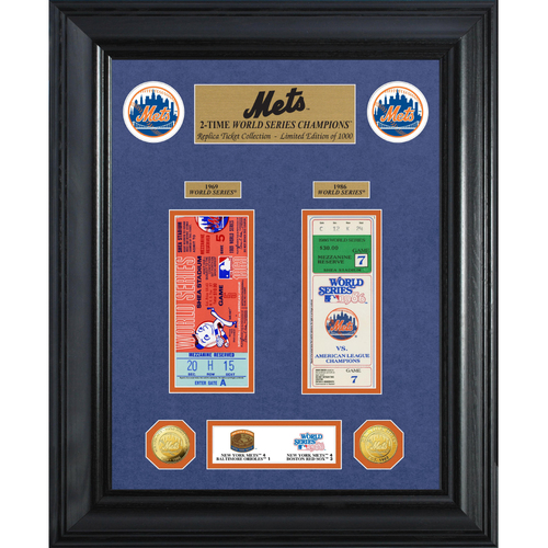 Photo of New York Mets World Series Deluxe Gold Coin & Ticket Collection