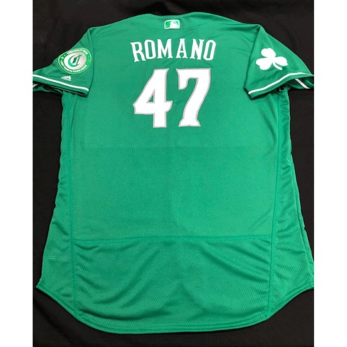 Photo of Sal Romano -- Team-Issued Jersey -- 2019 St. Patrick's Day