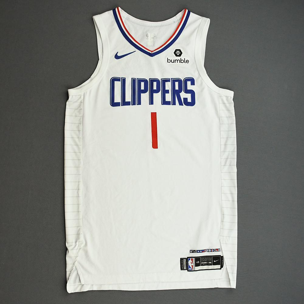 Jerome Robinson - Los Angeles Clippers - Game-Worn Association Edition Jersey - NBA Canada Series - 2019-20 NBA Preseason