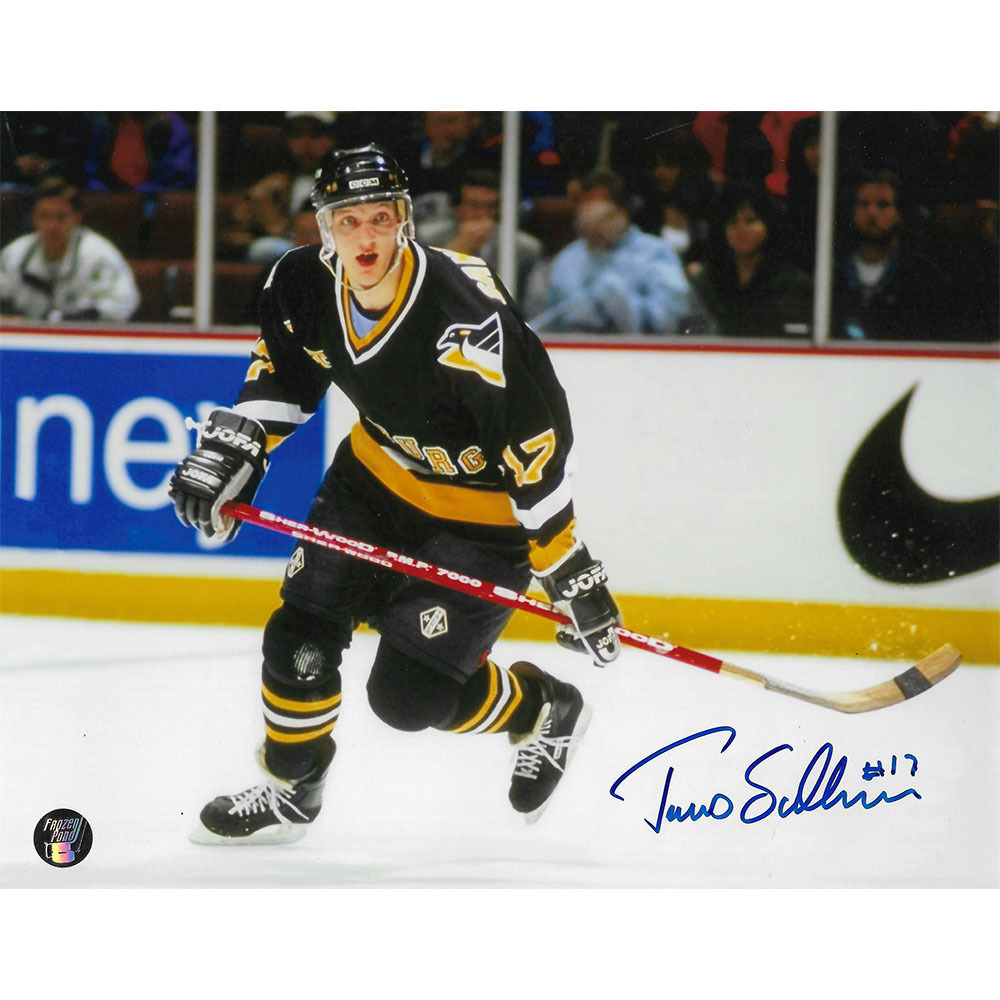 Tomas Sandstrom Autographed Pittsburgh Penguins 8X10 Photo