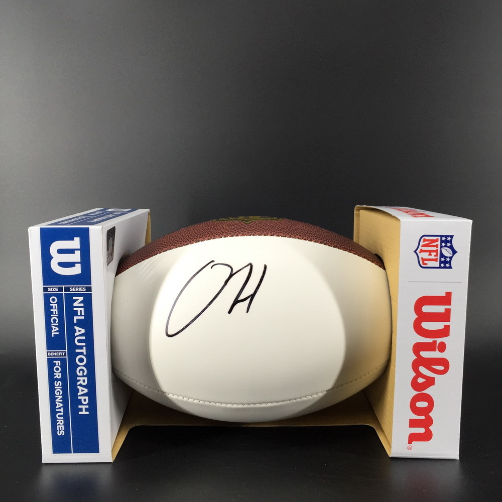 NFL - Patriots Damien Harris Signed Panel Ball