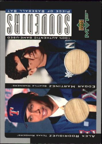 Photo of 2001 Upper Deck MVP Game Souvenirs Bat Duos #BRM Alex Rodriguez/Edgar Martinez