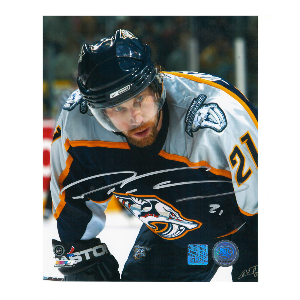 PETER FORSBERG Signed Nashville Predators 8 X 10 Photo - 70131