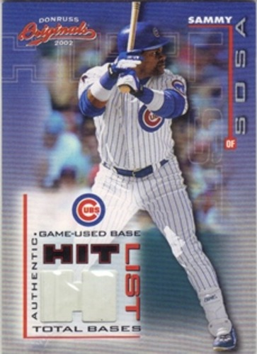 Photo of 2002 Donruss Originals Hit List Total Bases #10 Sammy Sosa Base/425