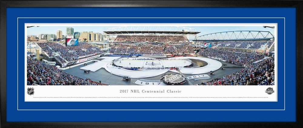 Centennial Game Framed Panorama 2017 Leafs vs Red Wings
