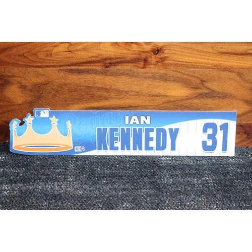 Game-Used Locker Name Plate: Ian Kennedy