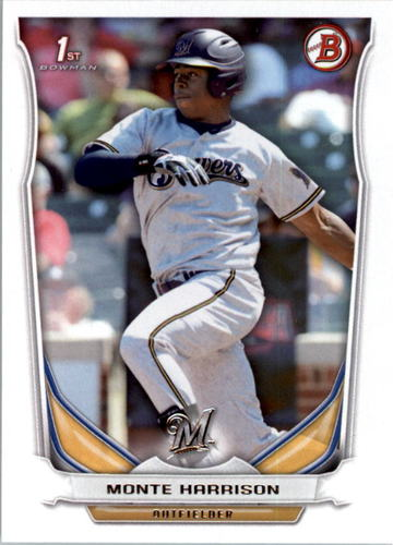 Photo of 2014 Bowman Draft #DP48 Monte Harrison -- Ranked #71 of MLB's Top 100 Prospects