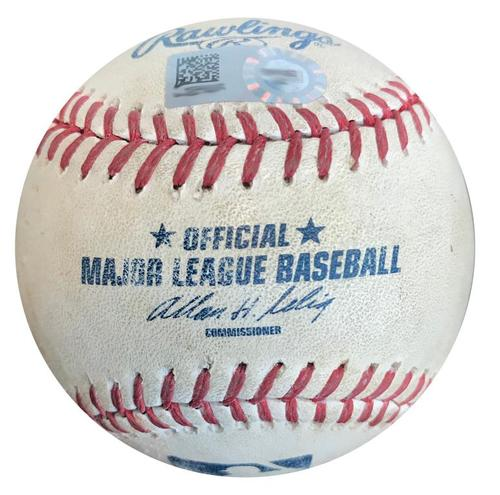 Photo of Game-Used Baseball from Pirates vs. Cubs on 9/14/14 - Josh Harrison Single