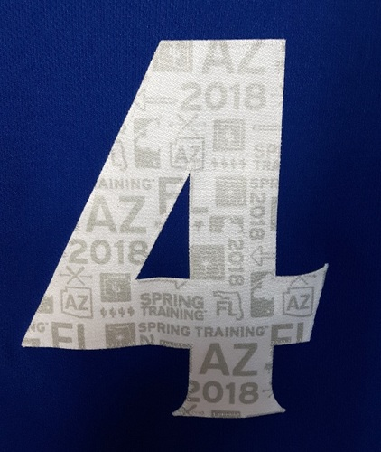 Photo of Authenticated Team Issued Spring Training 2018 Jersey - #4 Luis Rivera. Size 46