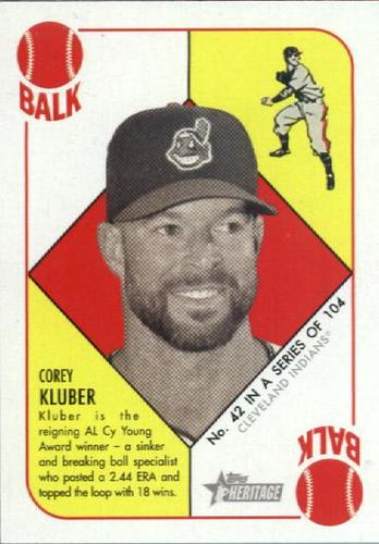 Photo of 2015 Topps Heritage '51 Collection #42 Corey Kluber
