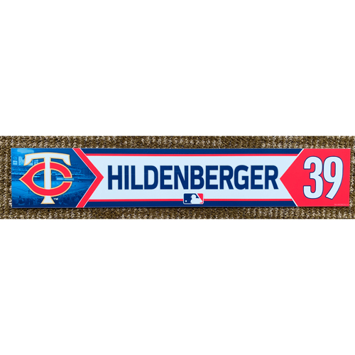 Photo of 2018 Game-Used Trevor Hildenberger Minnesota Twins Lockertag