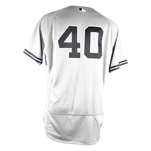 Photo of Luis Severino New York Yankees 2018 Road Game Used #40 Jersey (6/26/2018) (Win #12 - 7.0 IP 6 H 9 SO)