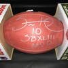 PCC - Steelers Santonio Holmes Signed Authentic Football with NFL 100 Logo featuring 'SB XLIII MVP' Inscription