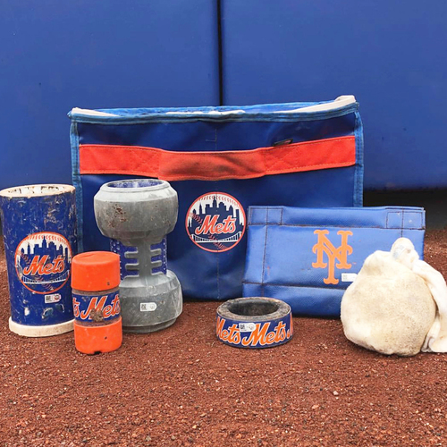 Photo of Game Used On Deck Circle Equipment - 2018 Season