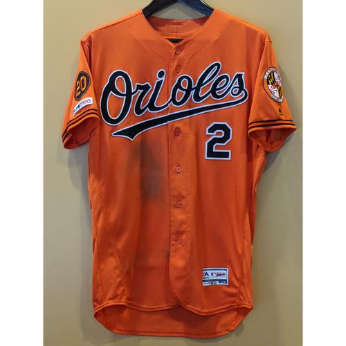 Photo of Jonathan Villar - Orange Alternate Jersey: Game-Used