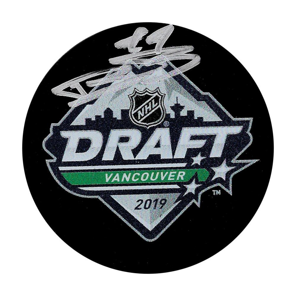 Bowen Byram Autographed 2019 NHL Entry Draft Puck