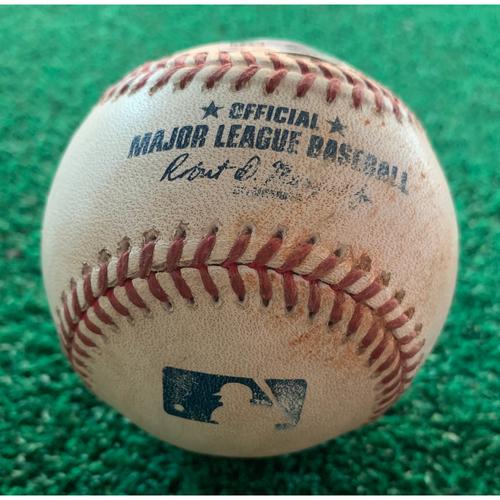 Photo of 2019 Game-Used Baseball  9/6/19 Astros vs. Mariners: Reggie McClain  to Yuli Gurriel - Bottom 1st (RBI Double to LF)