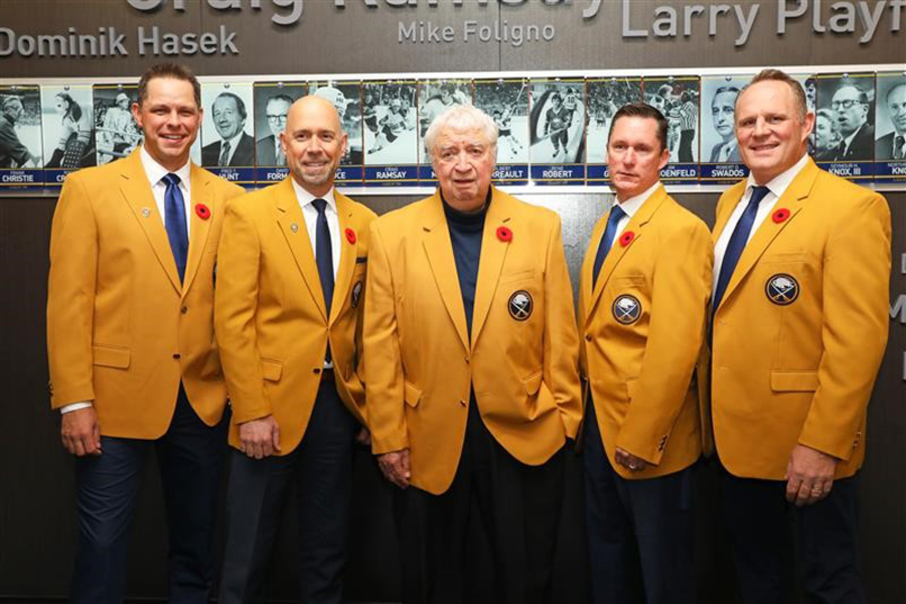 Rick Jeanneret Buffalo Sabres 50th Season Autographed Broadcast Blazer