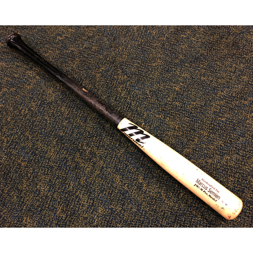 Photo of Game Used Broken Bat - Marcus Semien - 8/1/20 at SEA