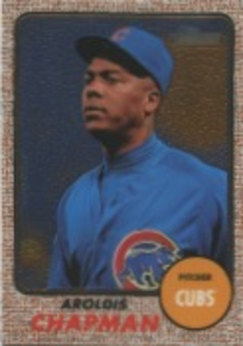 Photo of 2017 Topps Heritage Chrome #THC472 Aroldis Chapman