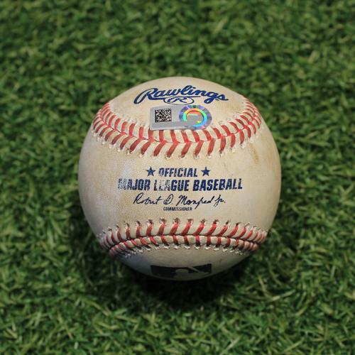 Photo of Game-Used Baseball: Collin Moran 283rd Career Hit (PIT @ KC 9/13/20)