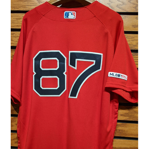 Photo of Michael Brenly #87 Team Issued Red Home Alternate Jersey