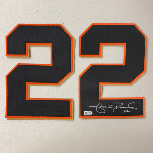 Photo of #22 Jake Peavy Autographed Jersey Number (*No Jersey Included* JERSEY NUMBERS ONLY)