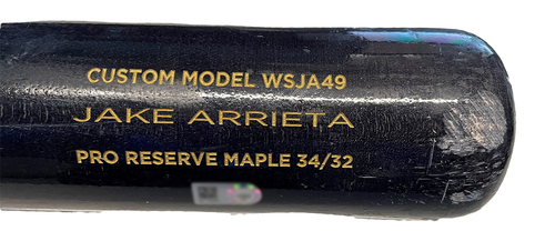 Photo of Jake Arrieta Team-Issued Cracked Bat -- 2021 Season