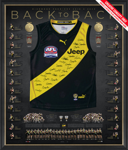 Photo of 2019/20 Back-to-Back Deluxe Signed Premiers Guernsey - Edition #12