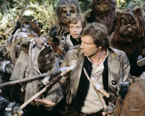 Han Solo with Ewoks