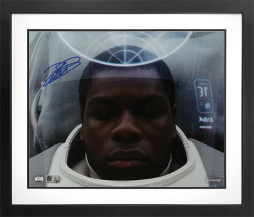 John Boyega as Finn Autographed Blue Ink 8x10 Photo