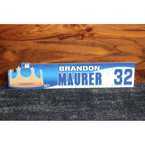 Game-Used Locker Name Plate: Brandon Maurer
